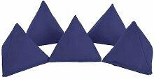 Marineblau Baumwollgewebe Dreieckige Jonglieren Sitzsack Garten Spiele PE Sport- - 5er Pack