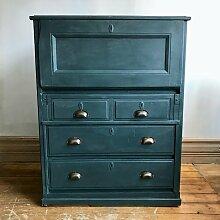 Marineblaue Vintage Kommode mit Schubladen