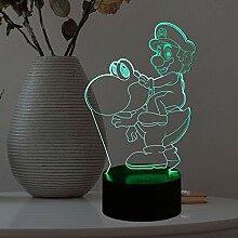 Mario Cartoon Tischlampe für Babyschlafzimmer,