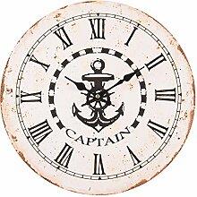 Maritim Wanduhr Uhr Küchenuhr *Captain Motiv