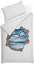 Maritime Bettwäsche | Bezug & Kissen | 135 x 200