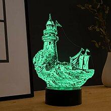 Maritime Deko LED Lampe Leuchtturm - Elbeffekt -