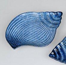 maritime Deko Schale Muschel L. 24cm blau Porzellan Formano F18 (8,95 EUR / Stück)