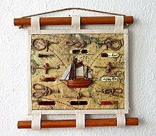 maritime Dekoration Knoten Wandbild Canvas 35 cm
