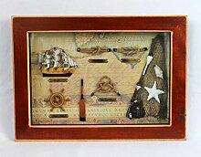 maritime Dekoration Knotentafel hinter Glas