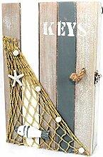 maritime Dekoration Schlüsselkasten Keys Holz
