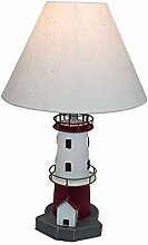 Maritime Leuchtturm Lampe, Tisch Lampe, Metall Rot