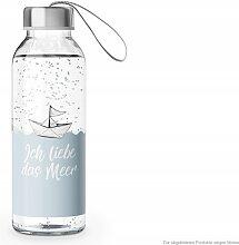 maritime Trinkflasche, Wasserflasche ICH LIEBE DAS