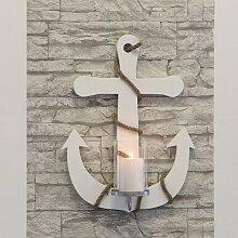 maritime Wanddeko, Wandkerzenhalter ANKER H. 50cm B. 38cm Holz Casablanca (53,95 EUR / Stück)