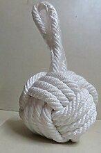 Maritimes Dekor 12,7cm Schönes schwere weiß Knoten Tür Stopper von nauticalmar
