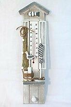 maritimes Thermometer 40 cm Holz mit Haken