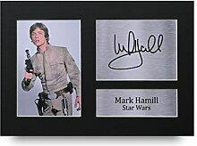 Mark Hamill unterzeichnet A4Gedruckt Autogramm, Star Wars Druck Foto Bild Präsentation Display–tolle Geschenkidee