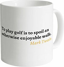 Mark Twain Quote Becher, Weiß