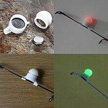 Marke neue Ultralight Wasserfeste 2Pcs Angeln LED-Stab Spitze Nachtlicht Elektrokontakt Glow Stick Biss Alarm Profi Fishing Tackle Werkzeuge