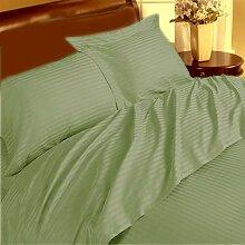 Marken 1Stück Bett Rock Supreme 350TC Salbei Streifen Kaiser 100% ägyptische Baumwolle extra tief Tasche (10Zoll)–von TRP Blatt–B21