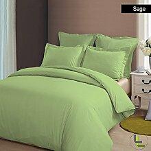 Marken 1Stück Spannbetttuch Einzigartige 400TC, Salbei massiv UK Betten 100% ägyptische Baumwolle extra tief Tasche (8Zoll)–von TRP Blatt–A7