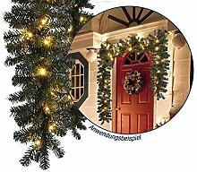 Markenlos LED Weihnachtsgirlande in naturnaher