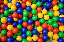 Marko Kinder Kunststoffbälle für Bällebad, Hüpfburg, mehrfarbig