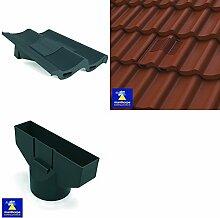Marley, schiefergrau Mendip Redland Grovebury Double Pantile Dach In, Line Tile Vent Ventilator &Flexi Rohr Rohr Adapter