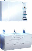 Marlin Bad 3130 - Azure Badmöbel Set 100 cm