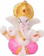 Marmor Ganesha Statue Handgefertigt Hindu Gott Ganpati Murti Stein Skulptur Idol Prunkstück Dekorationen für Haus Geschenke