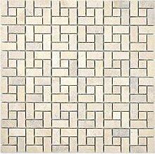 Marmor Mosaik Rad Stein chocolate Wand Boden