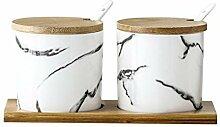 Marmor Muster Keramik Gewürzglas Salz Zucker