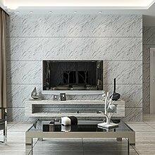 Marmor-tapete, Europäischen 3d-stil minimalistisches schlafzimmer gestreifte tapete-Weiß 1000x53cm(394x21inch)