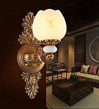 Marmor Wand Lampe Wohnzimmer Lampe volle Kupfer