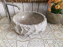 Marmor waschbecken  mit rauer Kante 15 Durchmesser