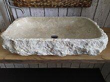 Marmor waschbecken  mit rauer Kante 17 Maßen 73 x