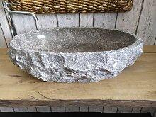 Marmor waschbecken  mit rauer Kante 2 Maßen 62 x