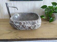 Marmor waschbecken  mit rauer Kante  38 Maßen: 44