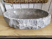 Marmor waschbecken  mit rauer Kante 8 Maßen 62 x