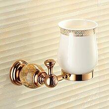 Marmor Zahnbürste Cup/Alle Kupfer Zahnbürstenhalter/Becher/ Pinsel Tasse/ Glaskeramik-D