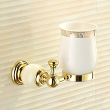 Marmor Zahnbürste Cup/Alle Kupfer Zahnbürstenhalter/Becher/ Pinsel Tasse/ Glaskeramik-C