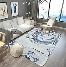 Marmorieren Teppich Wohnzimmer Couchtisch Sofa Schlafzimmer Nachttisch Blau Gemusterte Bodenmatte , 2 , 150x200cm