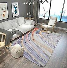 Marmorieren Teppich Wohnzimmer Couchtisch Sofa Schlafzimmer Nachttisch Blau Gemusterte Bodenmatte , 5 , 120x180cm