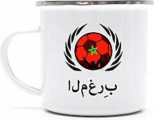 Marocco Wappen Fussball WM Fanfest Metalltasse
