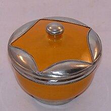 Marokkanisch Orientalische Dose Keramik Zucker Nüsse Tee, Farbe orange