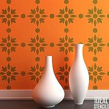 Marokkanische Arabisch Fliese Muster Schablone Heim Wand Dekorieren Kunst & Basteln Schablone Farbe Wände Stoffe & Möbel 190 Mylar wiederverwendbar Schablone