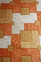 Marokkanische Farben Patchwork 2, abwischbare Tischdecke, Wachstuch, Vinyl, PVC, 140x 200cm.