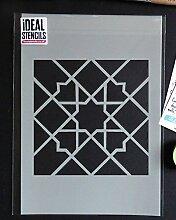 marokkanische Fliese Muster Schablone 2 Haus Wand