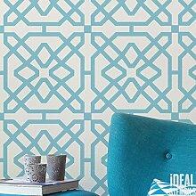 marokkanische Fliese Muster Schablone Heim Wand