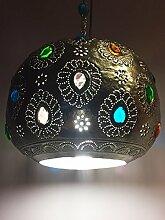 Marokkanische Lampe Ishraq silberfarbig