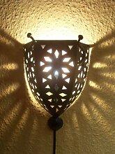 Marokkanische orientalische orient mediterrane Wandlampe Wandleuchte Wand Lampe Leuchte aus Eisen Nawal -inklusive Elektrik