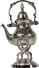 Marokkanische Silber Teekanne mit Stövchen Alhena