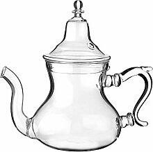 Marokkanische Teekanne aus Glas. Mit integriertem