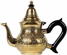 Marokkanische Teekanne aus Messing 400ml mit Sieb