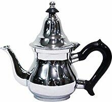 Marokkanische Teekanne aus Messing verchromt 200ml